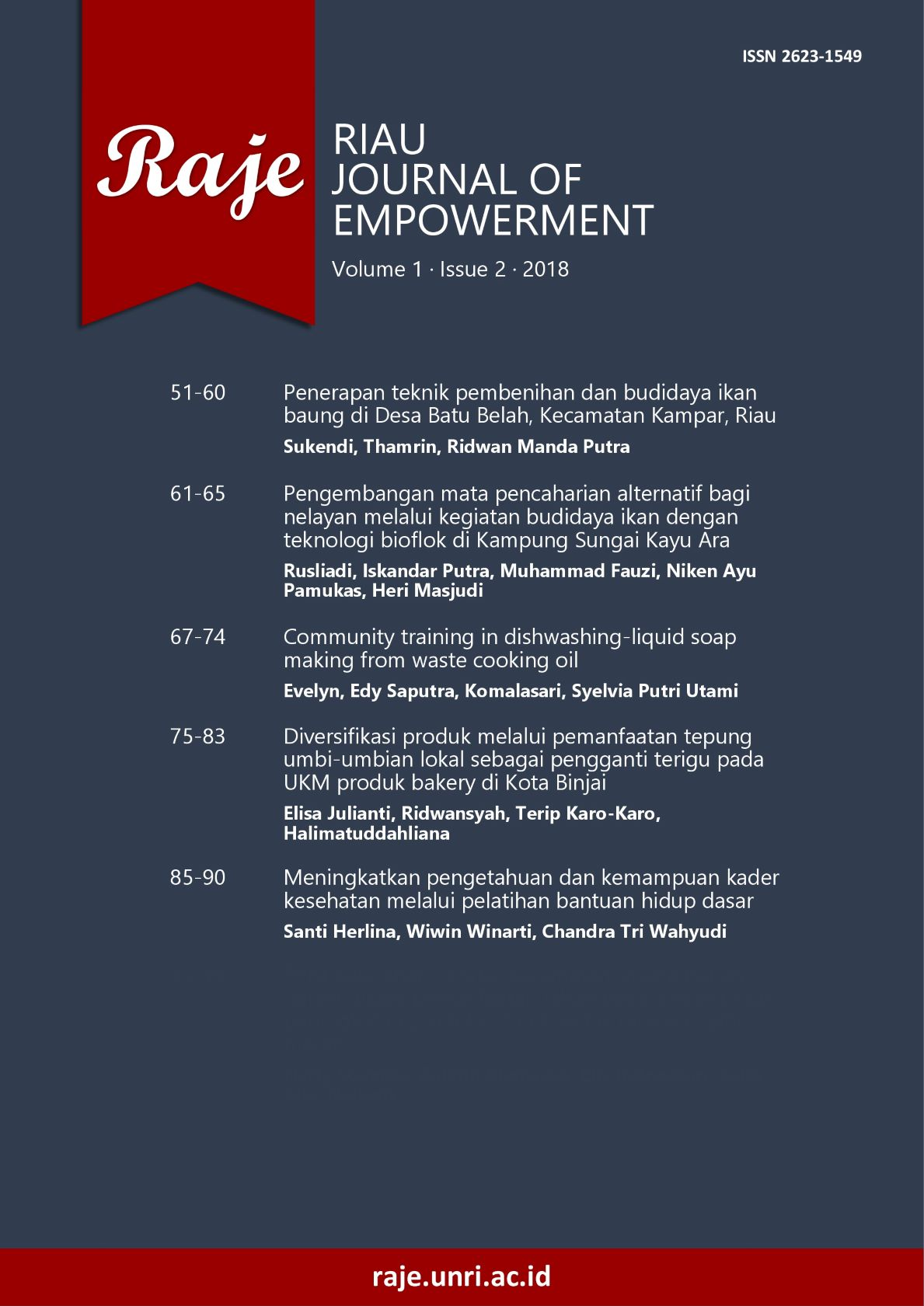 Riau Journal of Empowerment 1(2) 2018