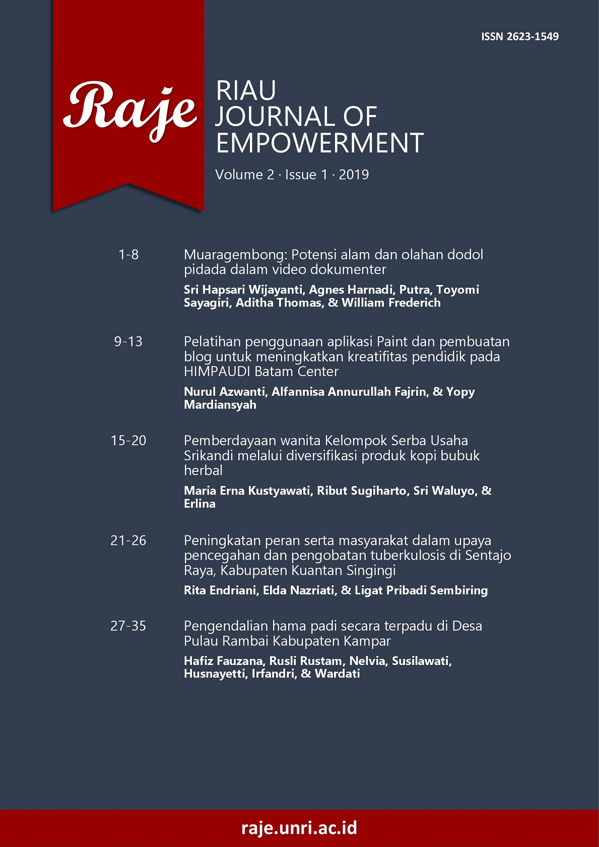 Riau Journal of Empowerment