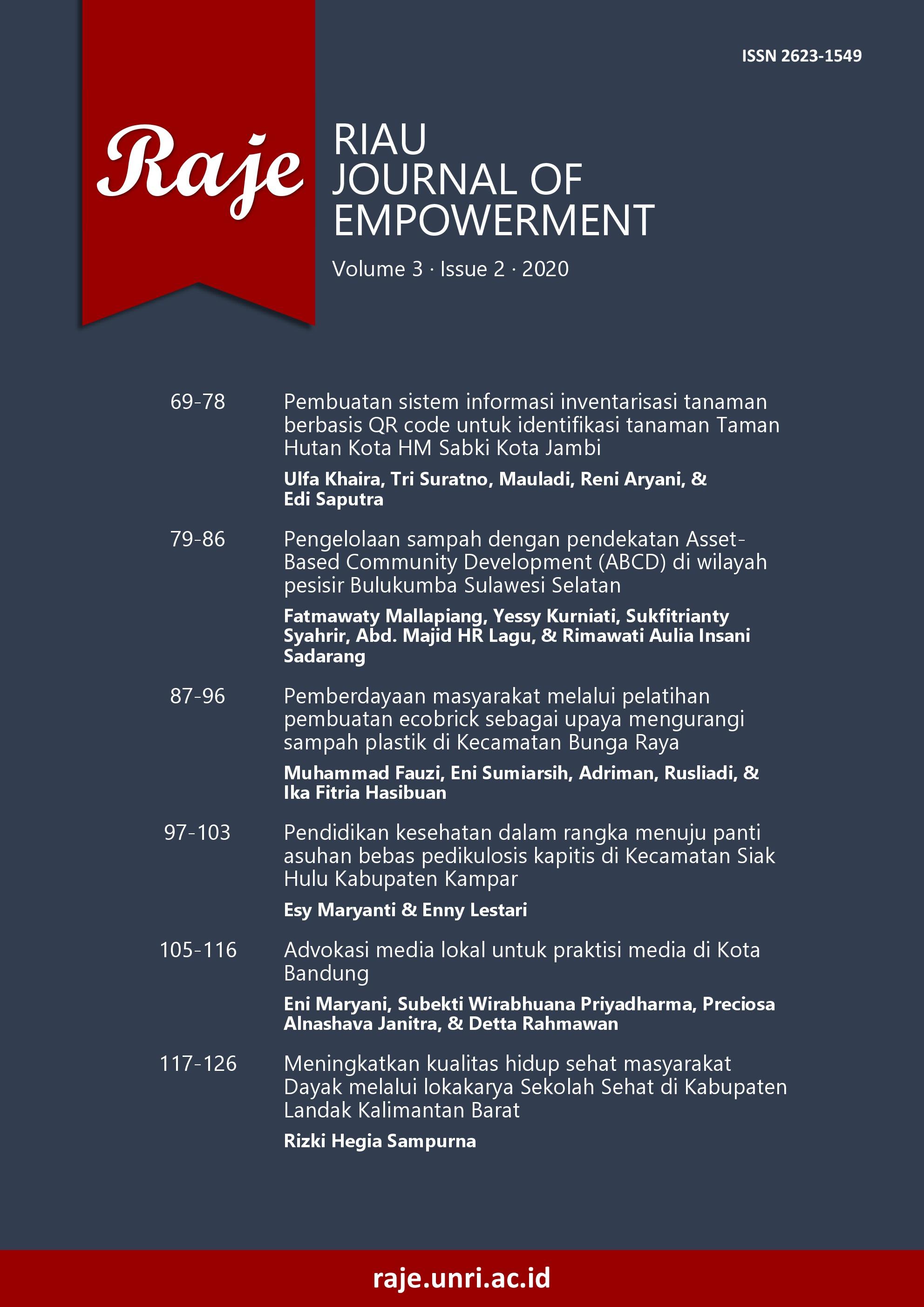 Riau Journal of Empowerment, 3(2)